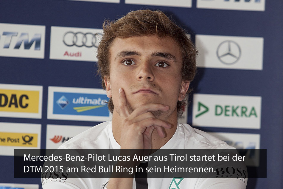 Mercedes-Benz-Pilot Lucas Auer bei der DTM 2015 am Red Bull Ring