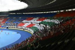 Rapidfans im Ernst Happel Stadion