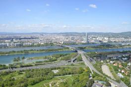 Donauturm - Ausblick nach Westen