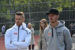 Mario Pavelic und Arnor Traustason von SK Rapid Wien