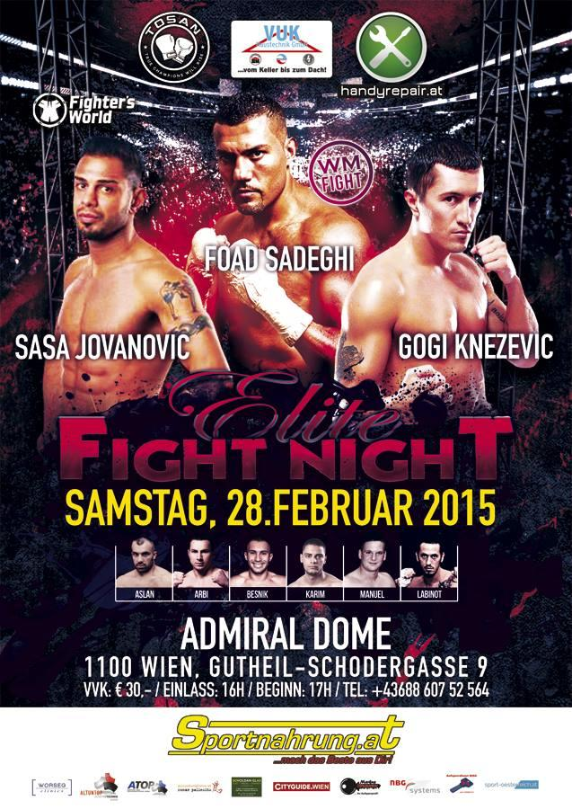 Elite Fight Night Admiral Dome 28.2.2015