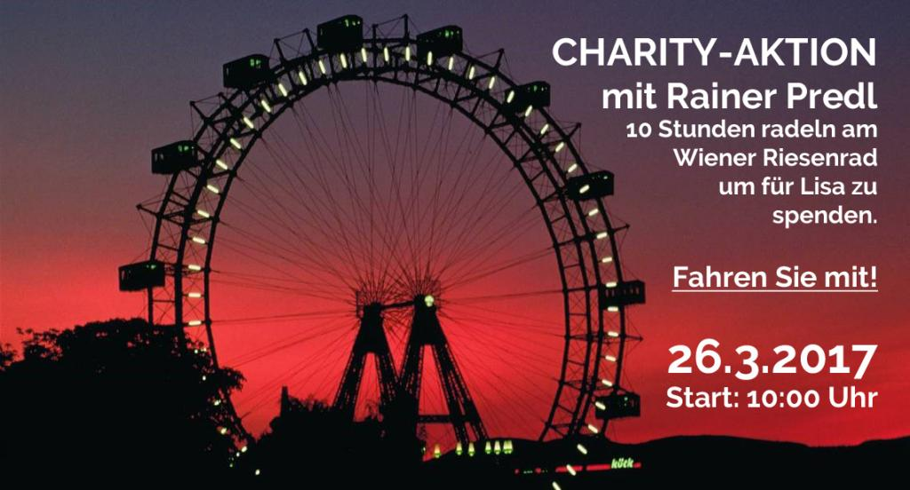 Charity-Aktion Rainer Predl am Wiener Riesenrad